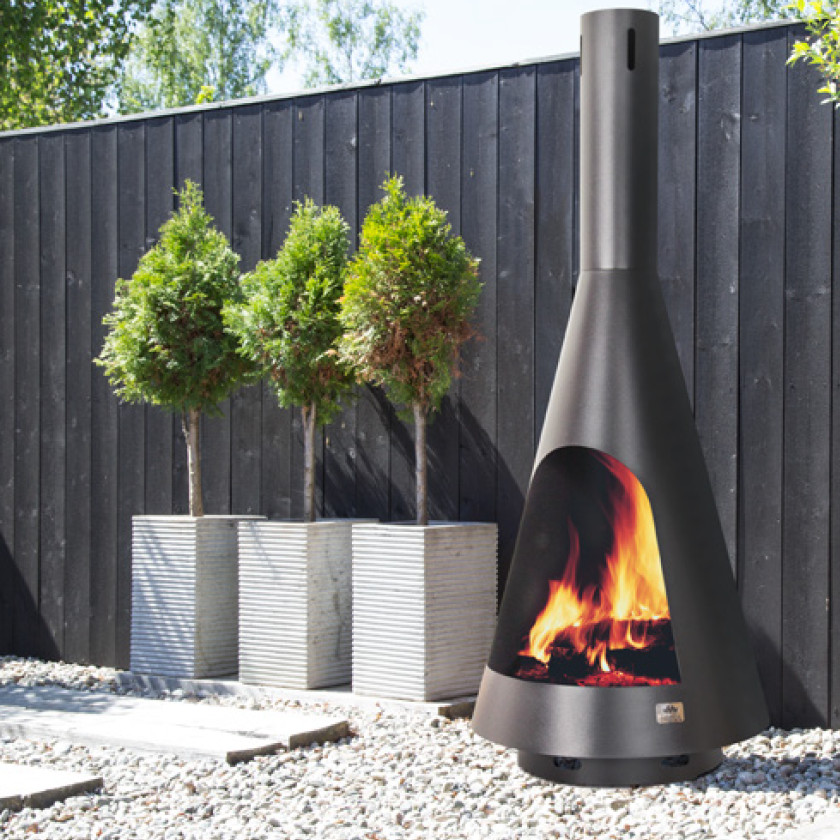Cone Outdoor Fireplace Image