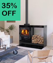 Jotul Cube with log store Image